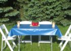 blue square vinyl elastic table covers