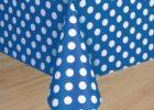 blue white polka dot table covers plastic ideas