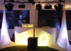 booth dj table cover