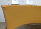 brown fitted rectangle tablecloths