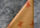 brown paper roll table cover crab pattern