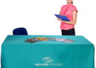 business table cover with logo