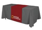business table cover with logo cheap