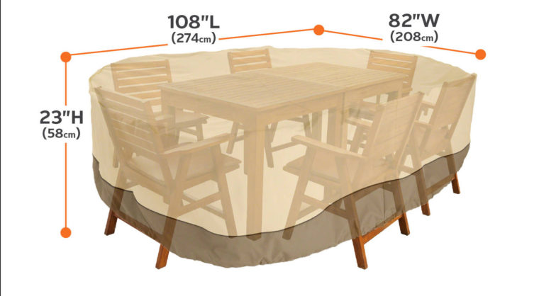 chair and patio table covers rectangular