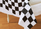 cheap black and white checkered tablecloth