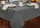 cheap black and white checkered tablecloth fabric