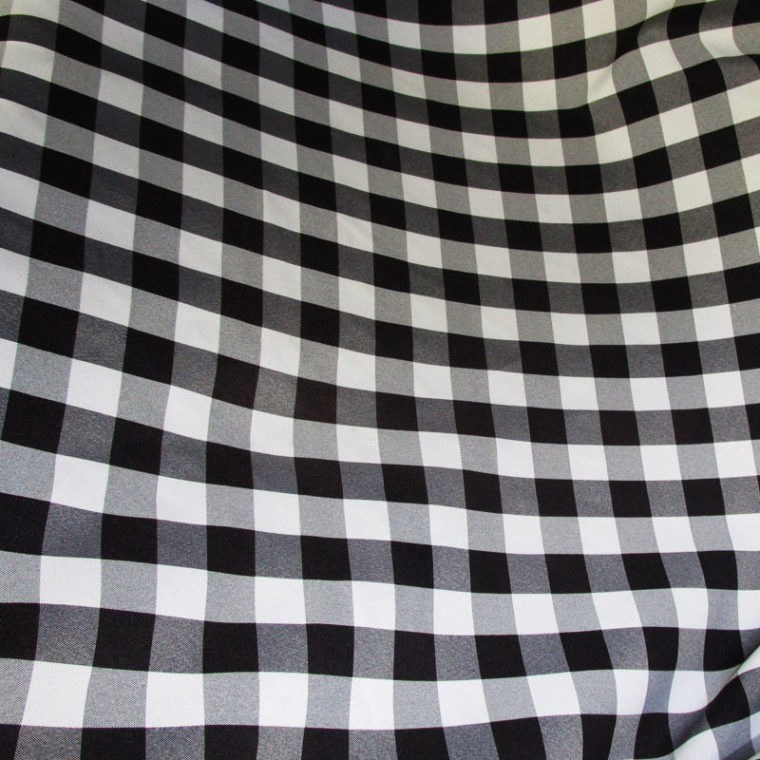 cheap black and white checkered tablecloth linen