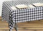 cheap black and white checkered tablecloth vinyl