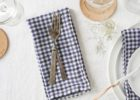 cloth checkered linen napkins bulk