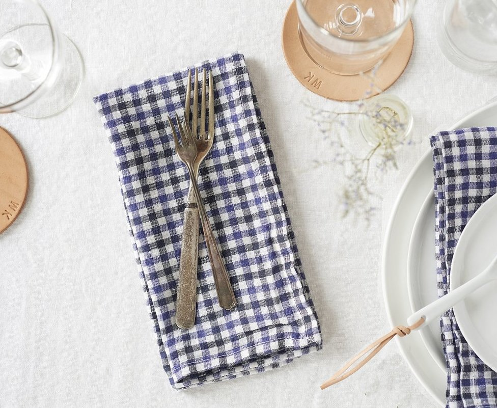 cloth checkered linen napkins bulk