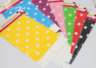 colorful polka dot table covers plastic