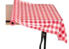 coral damask plastic table cover rolls