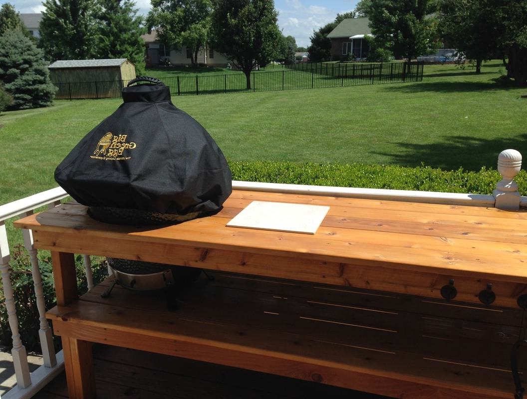 Exceptionnel Custom Black Big Green Egg Table Cover