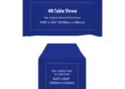 custom blue fitted table covers with logo