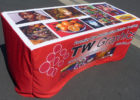 custom fitted table covers for trade show