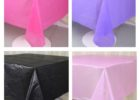 custom plastic table covers for party