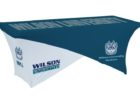 custom printed tradeshow table covers with logo
