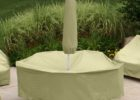 custom rectangle patio table cover with umbrella hole