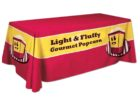 custom trade show table covers with logo