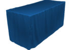 dark blue fitted rectangle tablecloths