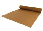 dark brown paper roll table cover
