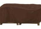 dark brown patio table covers rectangular