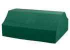 dark greeen bench and patio table covers rectangular