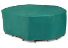 dark green chair and patio table covers rectangular and oval