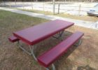 dark red elastic picnic table covers and bench covers