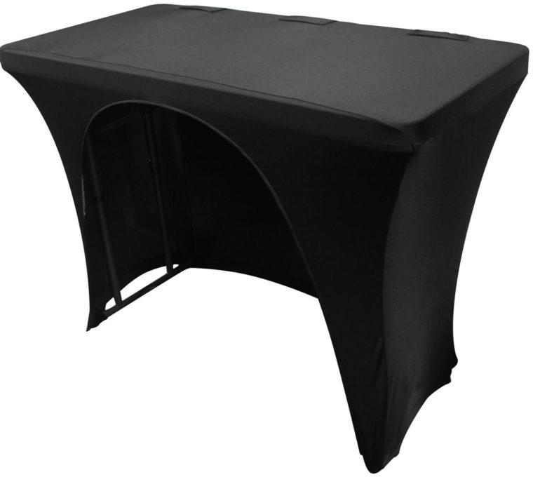 dj table cover spandex black