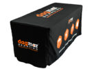 fitted black trade show fitted table covers
