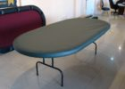 fitted black vinyl elastic table covers