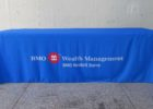fitted blue table covers with logo