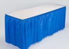 fitted plastic table covers with skirt