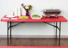 fitted red elasticized table cover rectangle