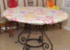 fitted round vinyl elastic table covers