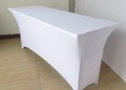 fitted white elasticized table cover rectangle
