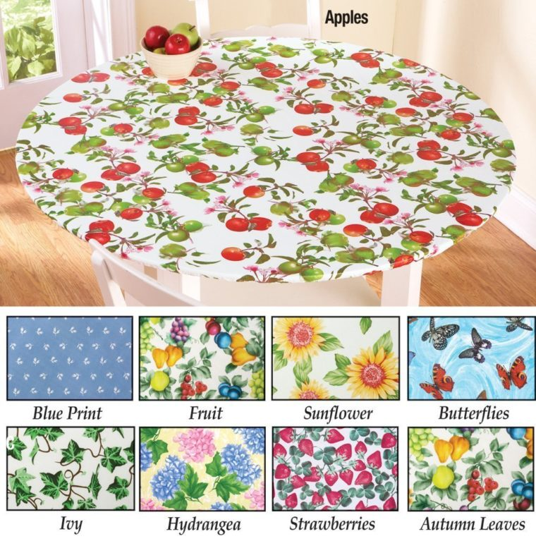 flower round elasticized table cover rectangle (standard)