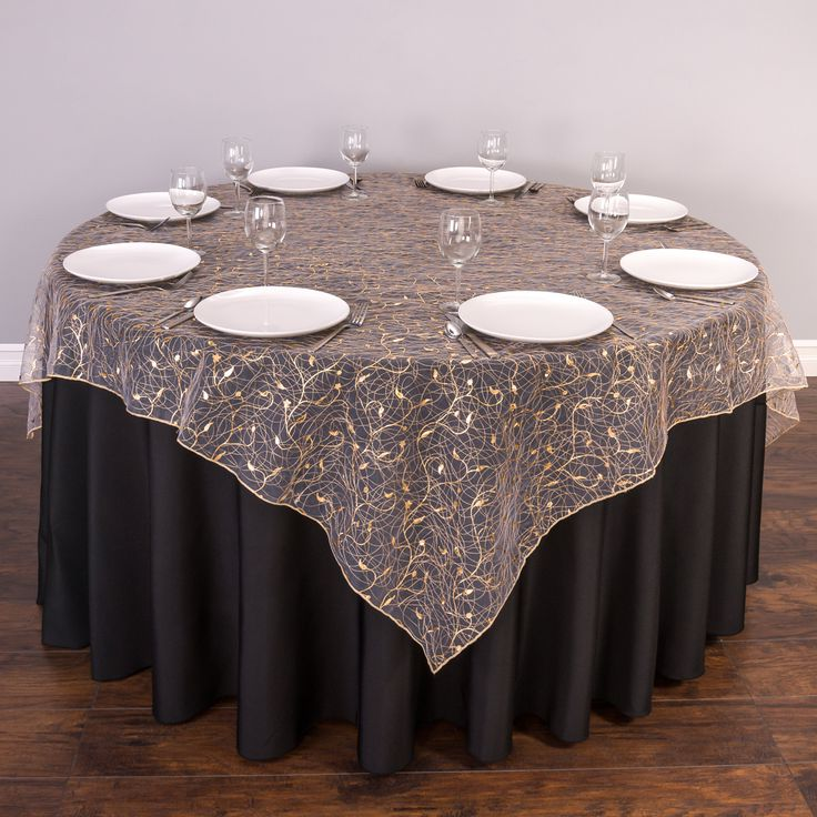 glitter gold overlay tablecloth