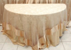 glitter lace gold overlay tablecloth