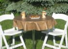 gold brown vinyl elastic table covers