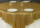 gold overlay tablecloth