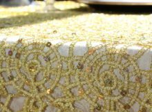 gold overlay tablecloth lace