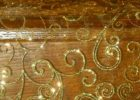 gold overlay tablecloth sequin