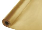 gold plastic table cover rolls 300 ft