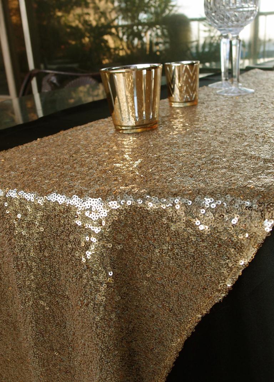 gold runners for tables glitter