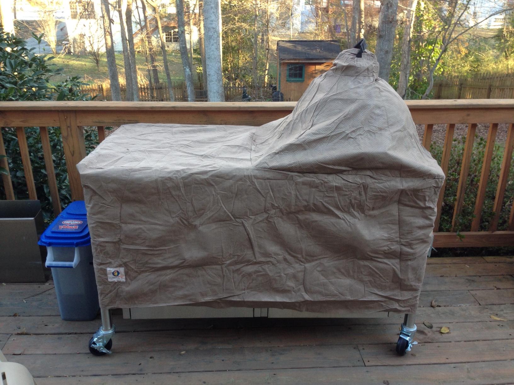 Grey Big Green Egg Table Cover Outdoor