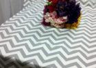grey chevron table cover