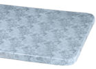 grey elasticized table cover rectangle (standard)