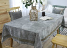 grey fabric table covers for party
